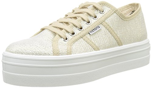 Victoria Tejido Lurex, Baskets Basses Mixte Adulte Or (Oro)