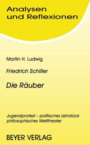 Analysen und Reflexionen, Bd.51, Friedrich von Schiller 'Die Räuber'