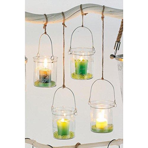 Lot de 4 lampions lUMiÈRE, verre
