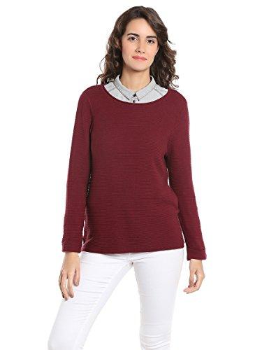 VERO MODA Damen Pullover Vmanna 3/4 Blouse Noos, Rot (Zinfandel), 38 (Herstellergröße: M) Preisvergleich