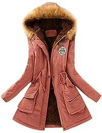 FNKDOR Las nuevas mujeres abrigan abrigos largos de piel con capucha de la chaqueta de invierno Parka Outwear