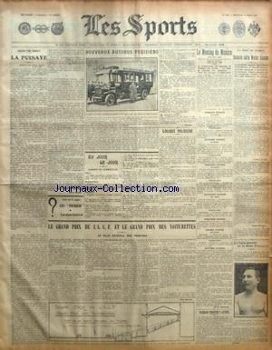 SPORTS (LES) [No 1197] du 11/03/1908 - BOXE - COSTELLO DEFIE STANTON - LE MEETING DE MONACO - LE GRAND PRIX DE L'ACF ET DES VOITURETTES - DARRACQ TRIOMPHE A CANNES par Collectif
