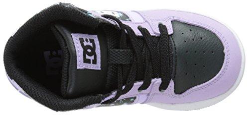 DC Shoes Rebound Se Ul, Baskets mode bébé garçon Rose (Lilac/Black)