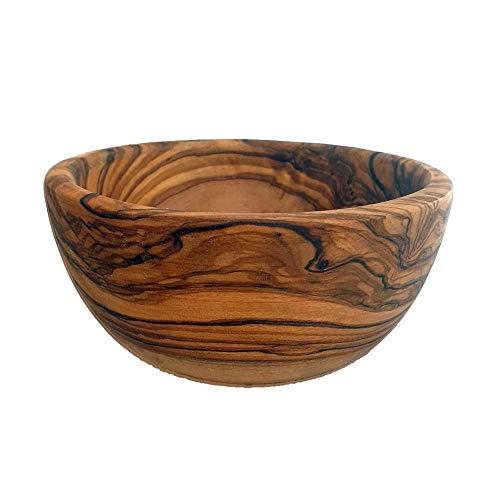 Generic Ciotola in Legno di ulivo, Realizzata a Mano, per Insalata, Snack, zuppa, Insalata, Frutta e Insalata, Dimensioni 14 x 6 cm