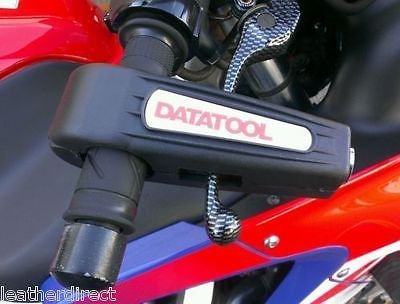 DATATOOL CROC-LOCK MOTORCYCLE YELLOW HANDLEBAR THROTTLE GRIP LOCK SECURITY BLACK