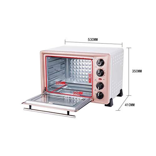 ZJJL Mini 36L Horno con ajuste de temperatura 100-250 ℃ y 0-60 Mins Timer, 1500W...