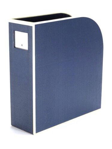 Semikolon (352732) Stehsammler A4 marine (blau) - Zeitschriften-Sammler und Dokumenten-Ordner - Für A4 - Format: 10,5 × 26,0 × 31,0 cm