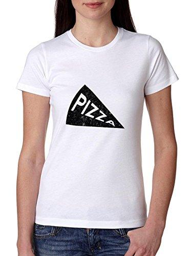 Classic Pizza Slice Iconic Graphic Women's Cotton T-Shirt