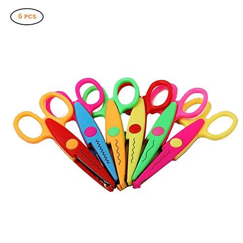 Mallalah 6 juego tijeras borde papel decorativo colorido