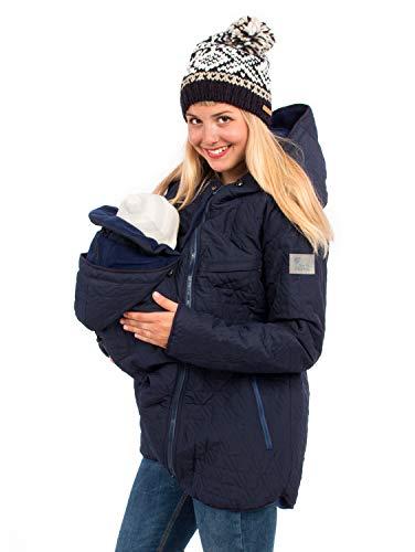 Viva la Mama 3in1 Umstandsjacke Winter Tragejacke warm gefütterte Jacke Damen 3in1 Kängurujacke Nevada Marine blau - M