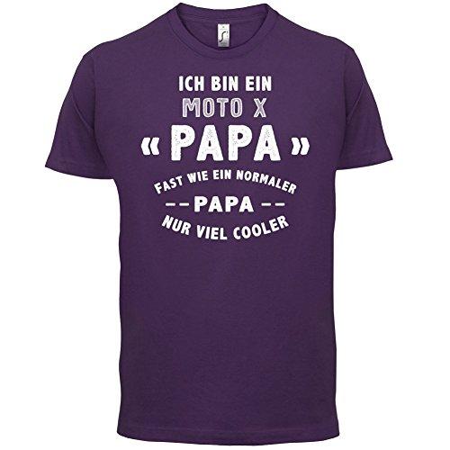 Ich bin ein Moto-X Papa - Herren T-Shirt - 13 Farben Lila