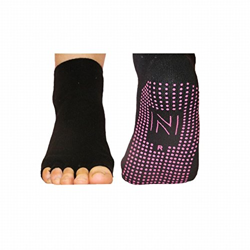 Norfolk® - 2 Paar Damen Yoga Pilates Socken 'ROSITA' Baumwolle, Farbe Schwarz, Größe 36-40