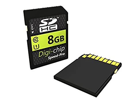 Digi-Chip 8 GO 8GB UHS-1 CLASS 10 SDHC Carte Memoire pour Canon EOS 5D Mark III, EOS 60Da, EOS 650D, EOS M, EOS 6D, EOS 70D, EOS 100D, EOS 700D, EOS 600D, EOS 1100D, EOS 60D and EOS 550D Appareil Photo Numerique SLR