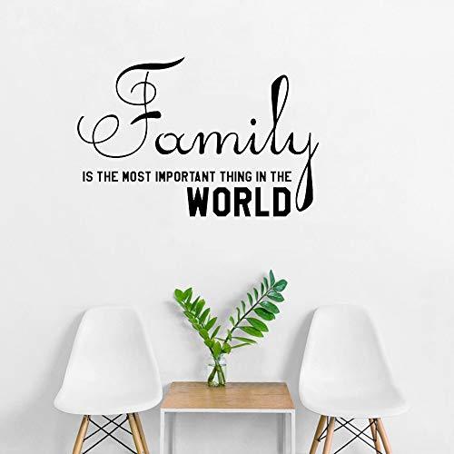 53x34cm Family ist die wichtigste Sache in der Welt Quote Wall Sticker Decal Removable Mural Art Vinyl Home Room Decar Decals (Welt Der Wall Mural)