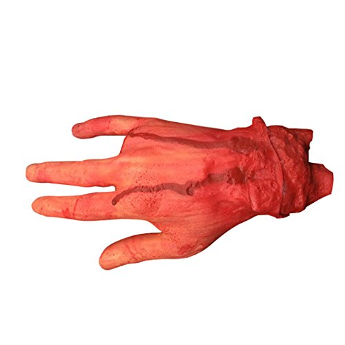 oween Blutige Hand, Halloween-Horror-Requisiten Blutige Hand, Halloween Horror Dekoration, Halloween Dekoration, Halloween Requisite blutiges, Moon mood® Halloween Decorazione - 4 si Riferisce Mani di Forbice di Sangue Decoration - 4 Refers Scissorhands Bloody Bloody Scary Horror Decoration Fear Haunted House Toy Housekeeping Bar Open Air Outdoor Party Sanguinosa Spaventoso Orrore Paura Decoration (Decorazioni Di Halloween)
