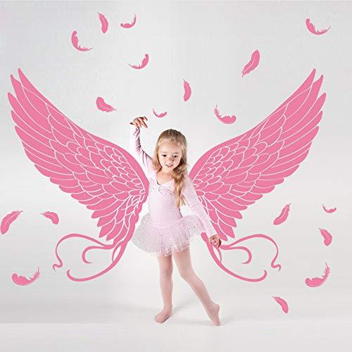 Meaosy Engel Flügel Wandaufkleber Vinyl Diy Selbstklebende Federn Tapeten Für Kinderzimmer Kindergarten Dekoration