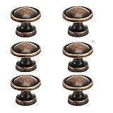 25mm Boutons en cuivre vintage antique rond d'armoire tiroir de cuisine Porte tirer Poignées, marron