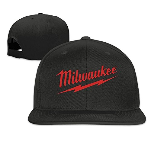 Funny Caps Power Tool Logo Milwaukee Father's Day Gift Unisex Unisex Adjustable Jersey Curved Visor Baseball Cap Polo Style Design Black