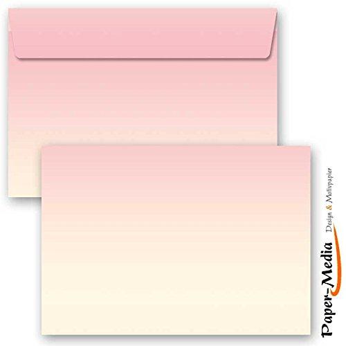 Motiv-Briefumschläge VIER JAHRESZEITEN - FRÜHLING, 10 Stück C6 (162x114 mm) Briefumschläge ohne Fenster, Selbstklebend mit Abziehstreifen
