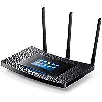 TP-Link Touch P5 AC1900 Gigabit Dualband WLAN Router (für Anschluss an Kabel-/DSL-/GlasfaserModem, 600 Mbit/s(2,4GHz)+1300 Mbit/s(5GHz), Touch Screen, IPv6, USB 3.0, Media/FTP/Print Server)