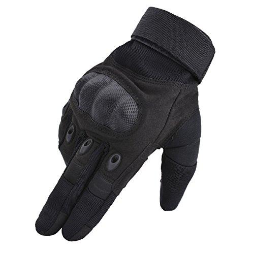 Coofit Taktische Handschuhe Winter Motorrad Handschuhe Herren Vollfinger Army Gloves Biking Skifahre Handschuhe (Schwarz, L) - 8