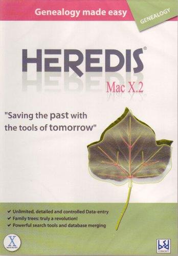 Heredis (Family Tree Software) Mac X.2 (Mac) (Family Tree For Mac)