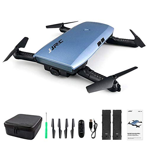 Jjrc H47 Elfie WiFi FPV 720P Hd Kamera Pocket Selfie Drohne G-Sensor Steuerung App Steuerung Flugplanung Faltbare Rc Drohne Metallblau Mit 2 Batterien - Blau,A,Einheitsgröße