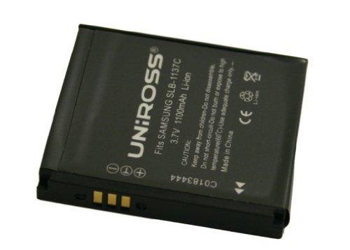 Uniross U0183352 Li-Ion Ersatzakku für Samsung SLB-1137C (1100mAh) -
