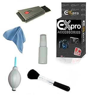 EX-Pro 5 way Digitalkamera Reinigungssystem, Kit Reinigungsgerät 2 way, Mikrofasertuch, Reinigungsflüssigkeit, Luftgebläse & feinen Pinsel
