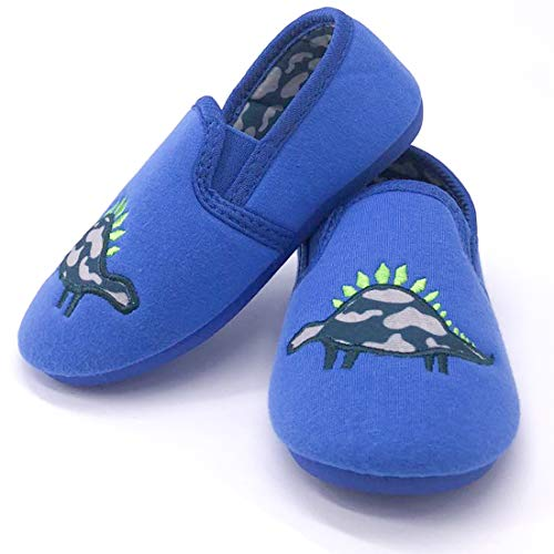 Dream Brigde Daycare Slippers Dinosaur Indoor Outdoor Slip-on Winter House Shoes Bedroom Shoes for Toddler Kids