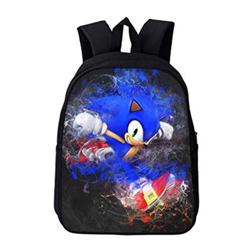 Sonic The Hedgehog Rucksack für Kinder,Anime Cartoon Muster Rucksack Mädchen Junge,Karikatur Drucken Grundschule Schultasche Rucksäcke Daypacks Backpack Große Kapazität Tasche Sale (16,16 Zoll)