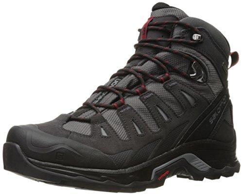 Salomon Quest Prime, Chaussures de Randonnée Hautes Homme Magnet Black Red Dahlia