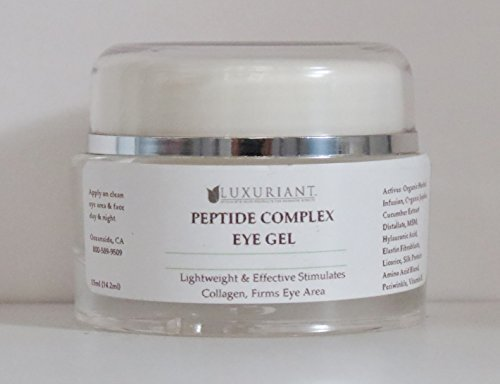 Peptide Complex Eye Gel-98% natural/72% organic-30 ml by Luxuriant-Sparkle Beauty Products