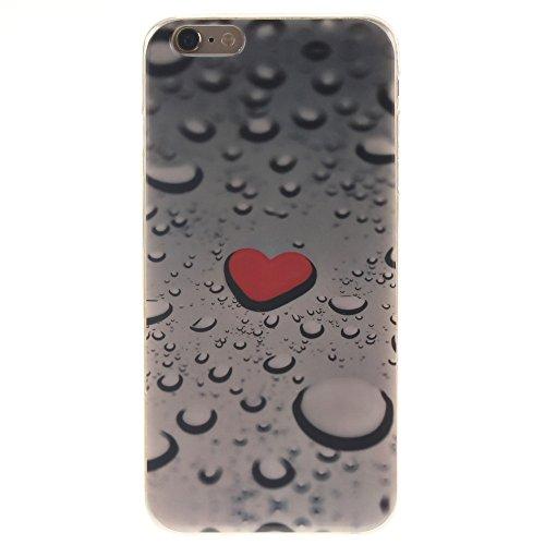 Nancen Ultra Slim Handyhülle für Apple iphone 6 Plus / 6S Plus (5,5 Zoll), Bunt Muster Painted Premium Etui Weich TPU Material Hülle Case Cover Schutz Silikon Schutzhülle Handy Backcover - Anti-kratzf Herz Wassertropfen