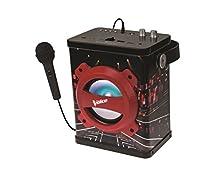 Lexibook The Voice La Plus Belle Voix Enceinte Bluetooth Portable avec Micro, lumières et poignée, 10 Watts, Ports AUX-in, USB et Micro SD, Batterie Rechargeable, Noir/Rouge, K920TV