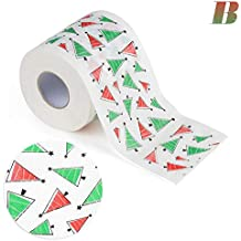 Molre-yan Christmas Funny Toilet Paper Series Roll Paper Prints