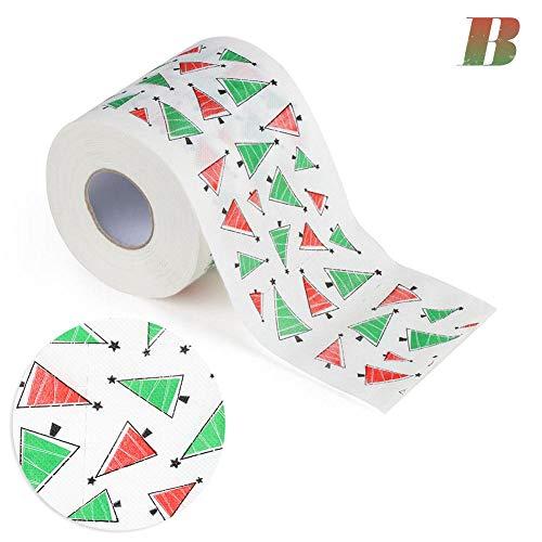 Weihnachtsrolle Papier Weihnachtsmuster Serie Gedruckt Toilettenpapier, Bedrucktes Rollenpapier, Gedruckte Bahn, Geltungsbereich: Familie, Café, Laden, Restaurant Usw