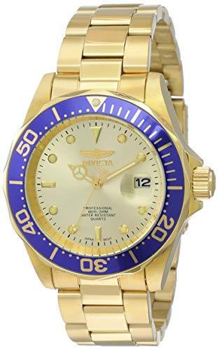 Invicta 14124 Pro Diver Reloj Unisex acero inoxidable Cuarzo Esfera oro