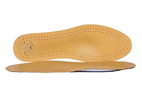 Schuheinlagen, Einlegesohlen Leder, Orthopädische Einlagen, Master, Beige, Gr. 43 (Schuheinlagen Herren)