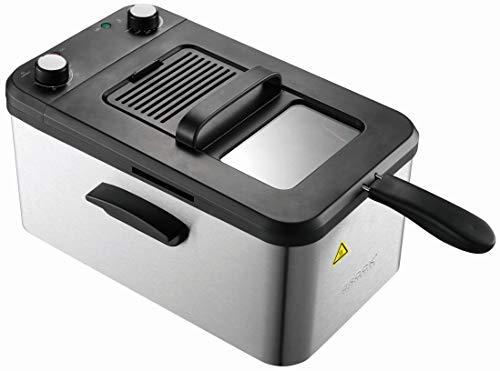 Brock Electronics Df-3001-Ss Freidora Electrica, 2200 W, 3.2 litros, 5 Decibeles, Acero Inoxidable, 10 Velocidades, Plateado/Negro