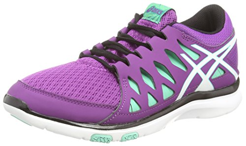 Asics Gel-fit Tempo 2, Damen Laufschuhe, Violett (grape/white/aqua Mint 3601), 39 EU (Cross Asics Training Schuhe)
