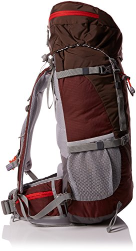Mountaintop 50L Trekkingrucksäcke Reiserucksack Wanderrucksack mit Regenhülle, 72 x 34 x 22 cm Granatrot