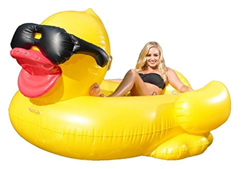 Geant Gonflable Piscine flottante Riding Derby Duck W Supports et sangles/Coupe
