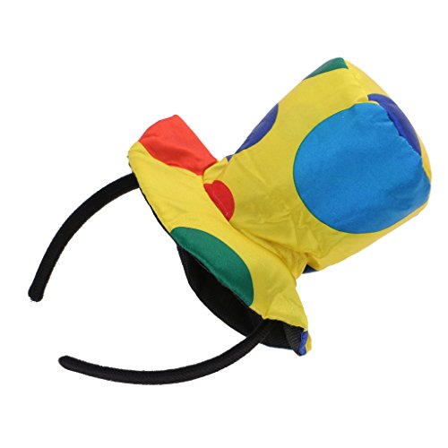 MagiDeal Polka Dot Clown Hut Stirnband Zirkus Jester Haarband Kostüm Abendkleid - # ()