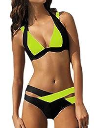 HGWXX7 Women's 2Pcs Bikini Padded Push-up Thong Bandage Swimsuits Bathing Set