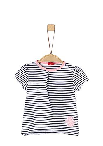 s.Oliver Baby-Mädchen 65.903.32.5434 T-Shirt, Blau (Dark Blue Stripes AOP 58g0), Herstellergröße: 92 - Blauer Kleinkind-t-shirt