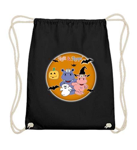 Nilpferde Feiern Halloween - Süße Geschenkidee Für Kinder - Baumwoll Gymsac