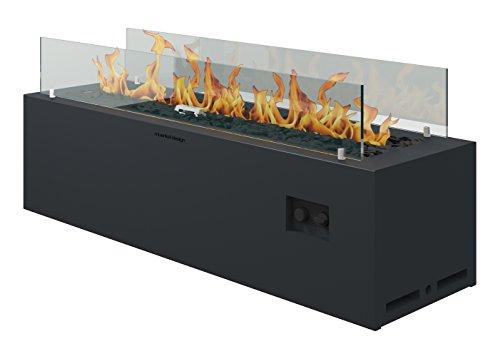 muenkel Diseño Spirit [Gas Brasero Exterior]: bombona de gas (propano, butano)–con Mando a distancia–Negro Gris