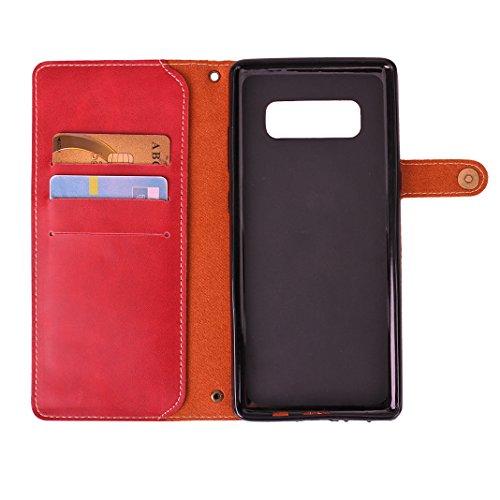 867e3bd7fd Custodia Galaxy Note 8 Libro Cover e Pelle PU, Moon mood® Protettivo  Portafoglio Copertura Caso per Samsung Note8 Cover con Porta Carte di  Credito ...