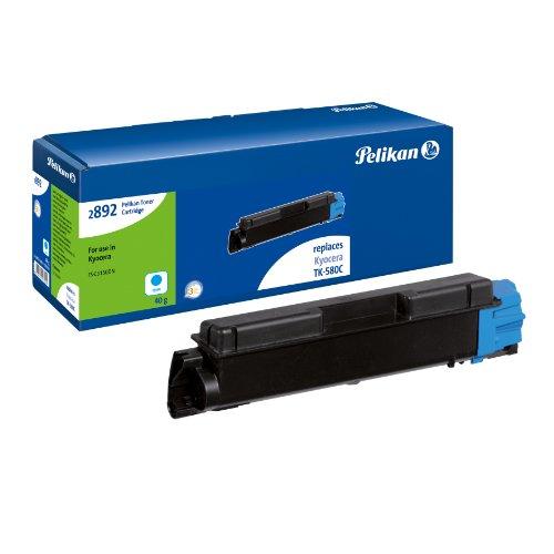Pelikan Toner-Kit 2892TKc ersetzt Kyocera TK-580C, Cyan, 2800 Seiten (Toner 2800)